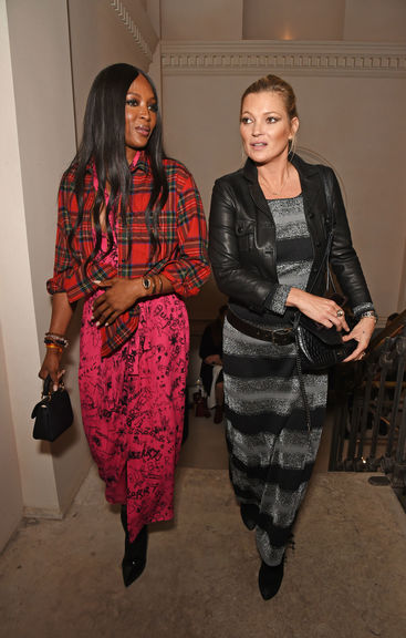 Naomi campbell and kate moss wearing burberry at the burberry september 2017 show